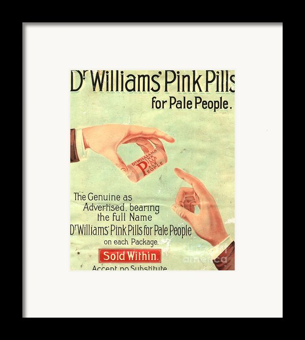 1890s Uk Dr Williams Pin Pills Medical Framed Print By The Advertising Archives