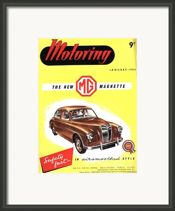 1950s Uk Cars Mg Magnette Covers Framed Print By The Advertising Archives