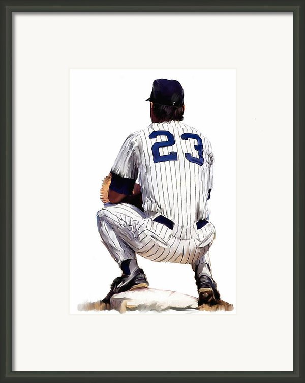 A Moment To Remember  Don Mattingly  Framed Print By Iconic Images Art Gallery David Pucciarelli