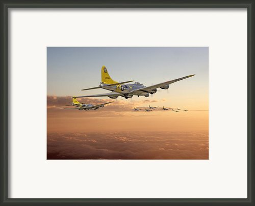 B17 - 486th Bg - Homeward Framed Print By Pat Speirs