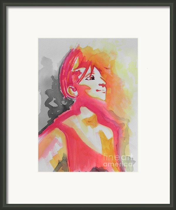 Barbra Streisand Framed Print By Chrisann Ellis