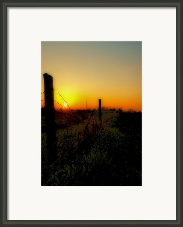Country Sunrise Framed Print By Tom Druin