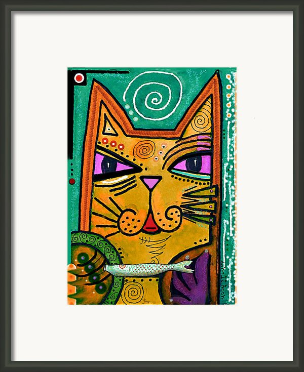House Of Cats Series - Fish Framed Print By Moon Stumpp