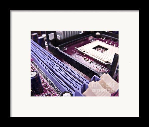 Pc Motherboard Framed Print By Jose Elias - Sofia Pereira