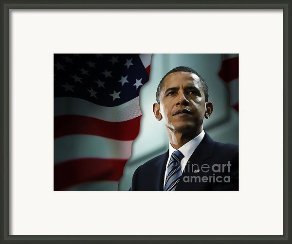 President Barack Obama Framed Print By Marvin Blaine