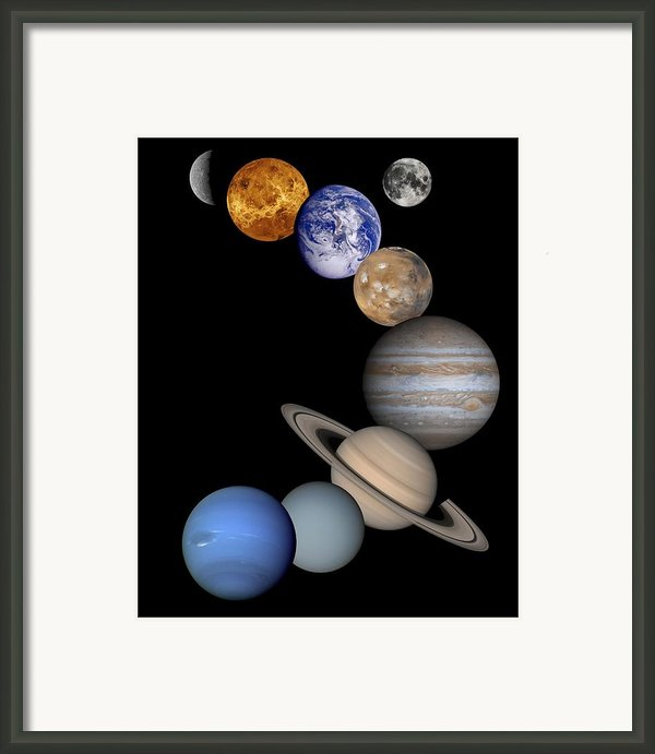 Solar System Montage Framed Print By Anonymous