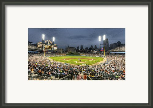 0101 Comerica Park - Detroit Michigan Framed Print By Steve Sturgill