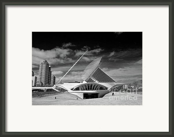 0352 Milwaukee Art Museum Infrared Framed Print By Steve Sturgill