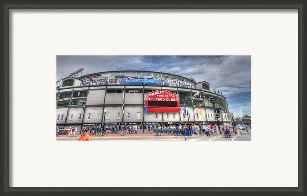 0444 Wrigley Field Chicago  Framed Print By Steve Sturgill