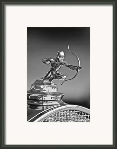 1930 Pierce-arrow Model A Convertible Hood Ornament Framed Print By Jill Reger