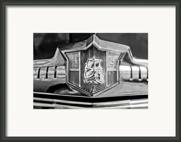 1949 Plymouth P-18 Special Deluxe Convertible Emblem Framed Print By Jill Reger