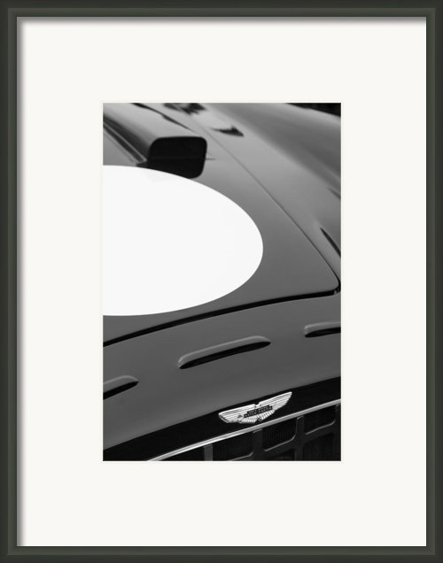 1952 Aston Martin Db3 Sports Hood Emblem Framed Print By Jill Reger