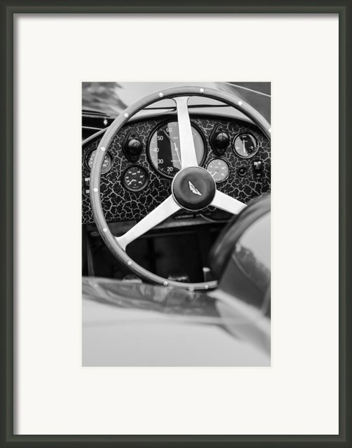 1957 Aston Martin Dbr2 Steering Wheel Framed Print By Jill Reger