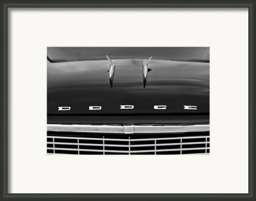 1958 Dodge Coronet Super D-500 Convertible Hood Ornament Framed Print By Jill Reger