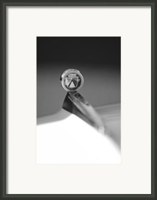1963 Ford Futura Hood Ornament Framed Print By Jill Reger