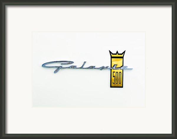 1963 Ford Galaxie 500 R-code Factory Lightweight Emblem Framed Print By Jill Reger