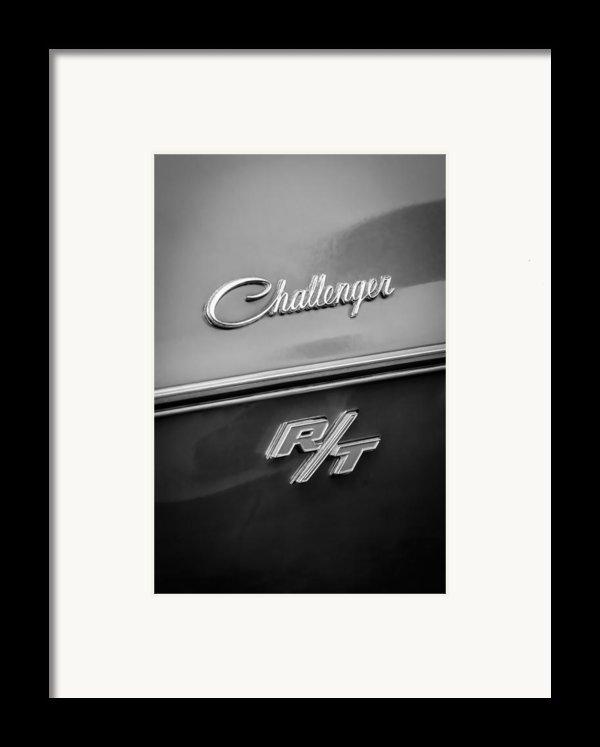 1970 Dodge Challenger Rt Convertible Emblem Framed Print By Jill Reger