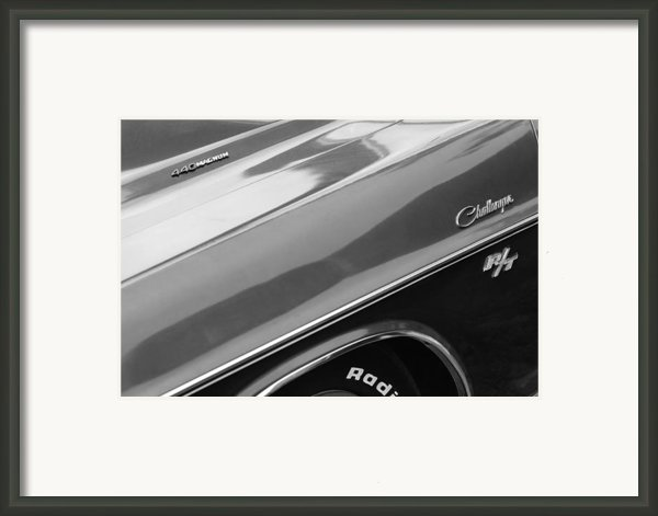 1970 Dodge Challenger Rt Convertible Emblems Framed Print By Jill Reger