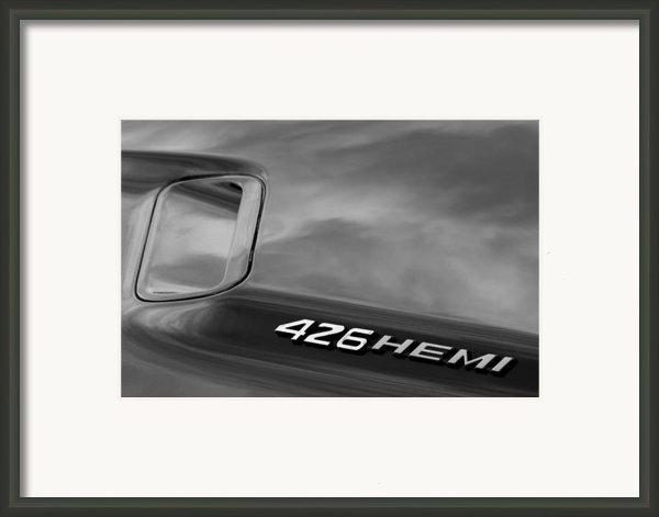 1971 Dodge Hemi Challenger Rt 426 Hemi Emblem Framed Print By Jill Reger