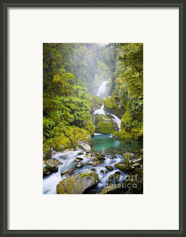 Amazing Waterfall Framed Print By Tim Hester