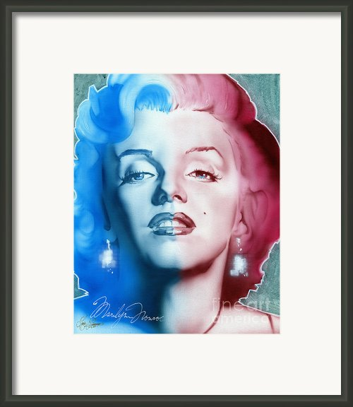 American Girl Framed Print By Luis  Navarro