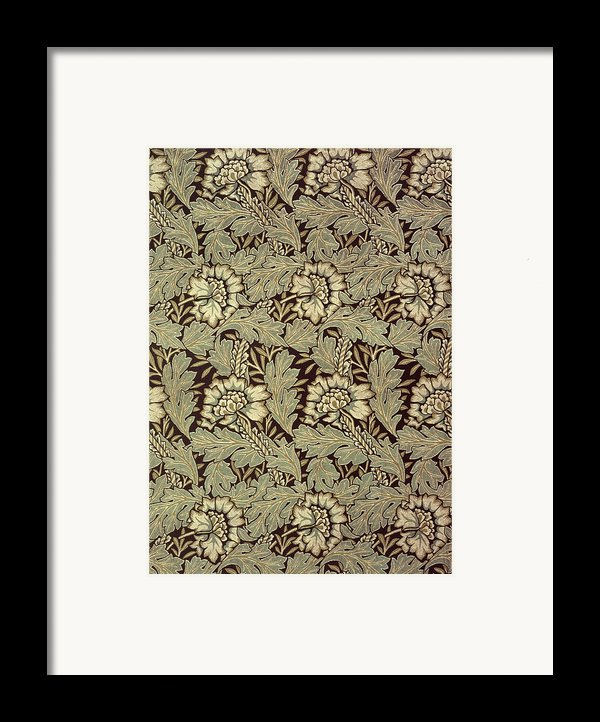 Anemone Design Framed Print By William Morris
