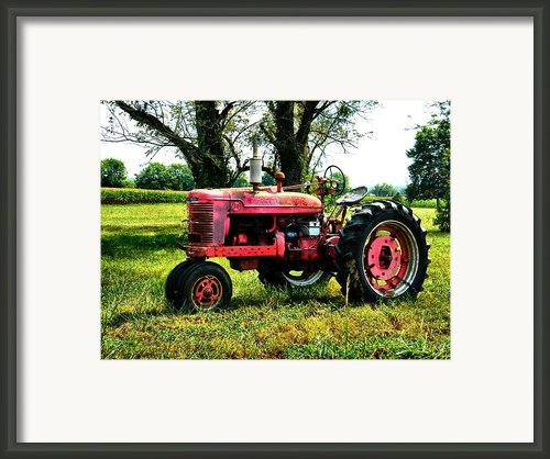 Antique Tractor  Framed Print By Julie Dant