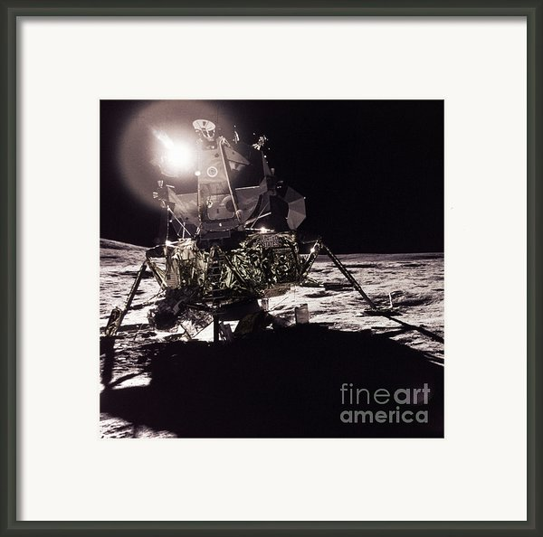 Apollo 17 Moon Landing Framed Print By Science Source