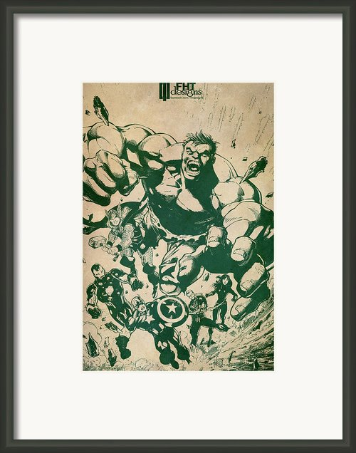 Avengers Framed Print By Fht Designs