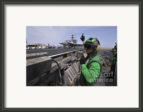 Aviation Boatswain's Mate Signals Framed Print By Stocktrek Images