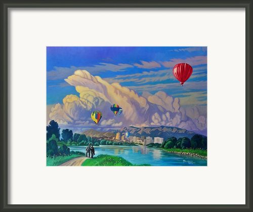 Ballooning On The Rio Grande Framed Print By Art West