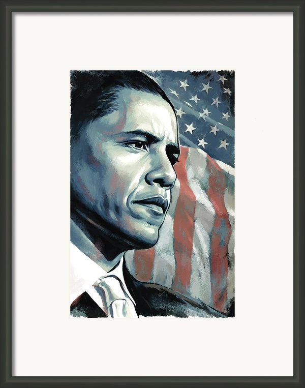 Barack Obama Artwork 2 Framed Print By Sheraz A