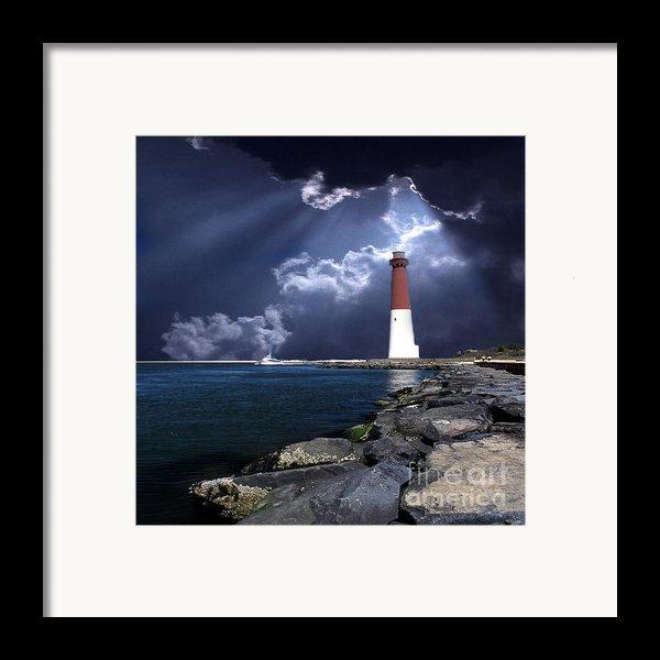 Barnegat Inlet Lighthouse Nj Framed Print By Skip Willits