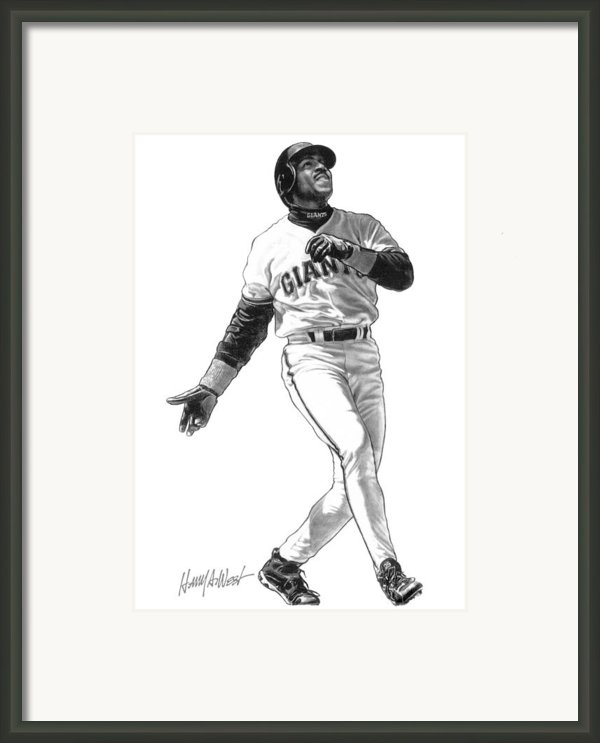 Barry Bonds Framed Print By Harry West