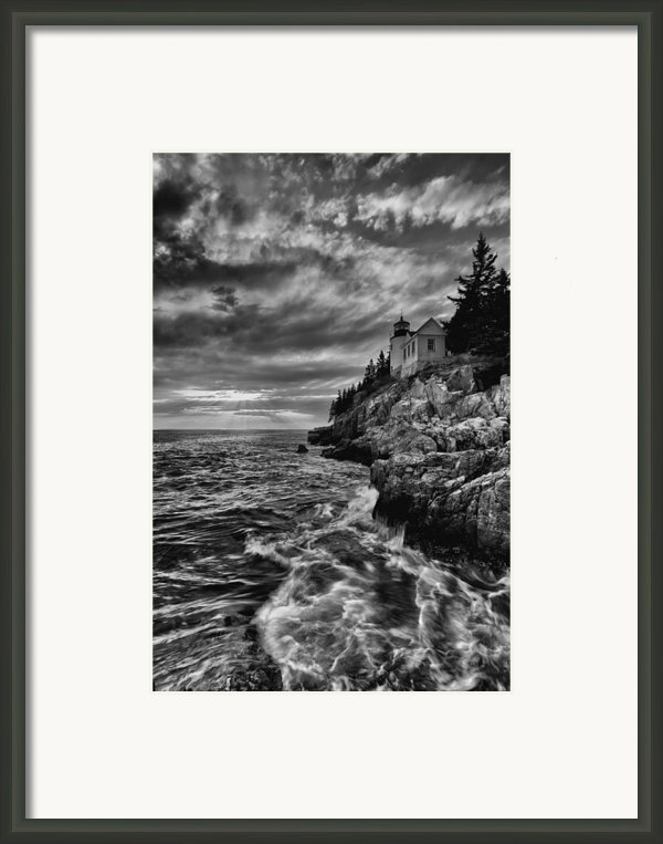 Bass Harbor Framed Print By Chad Tracy