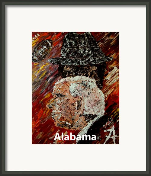 Bear Bryant And Mal Moore  Framed Print By Mark Moore