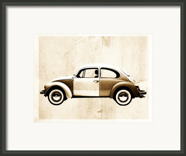Beetle Car Framed Print By David Ridley