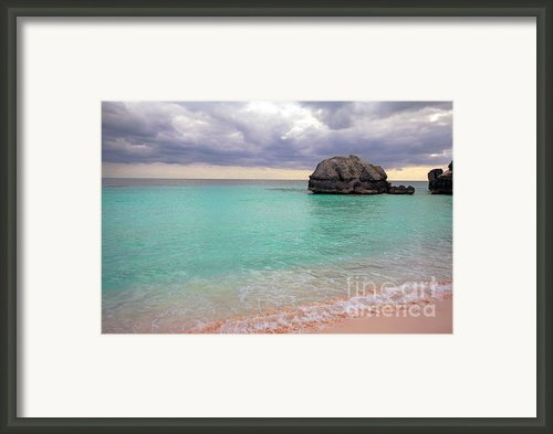 Bermuda Pink Sand Beach Framed Print By Charline Xia