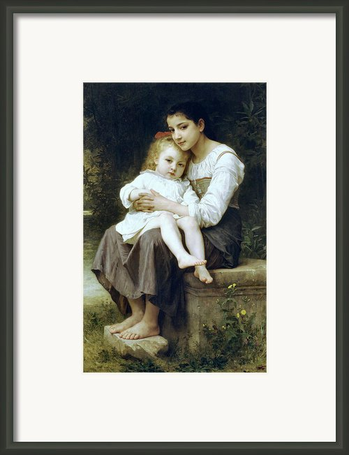 Big Sister Framed Print By William Bouguereau
