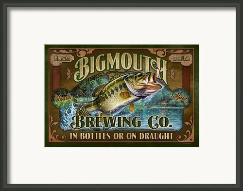 Bigmouth Brewing Framed Print By Jq Licensing