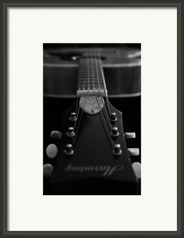 Black And White Harmony Guitar Framed Print By Athena Mckinzie