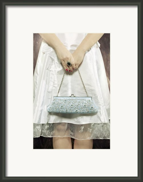 Blue Handbag Framed Print By Joana Kruse