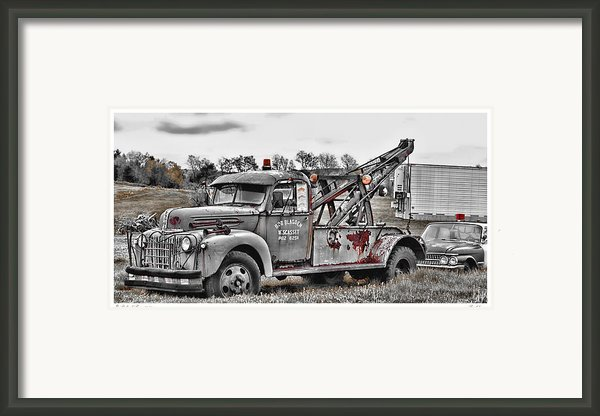 Break Down Framed Print By Richard Bean