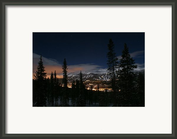 Breckenridge Moon Lit Night Framed Print By Michael J Bauer