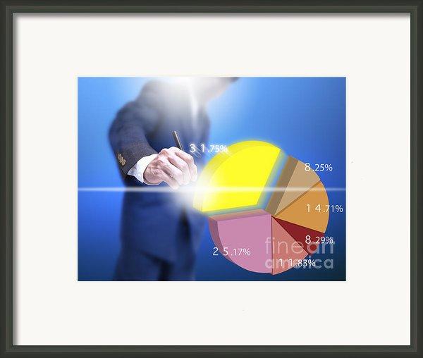 Business Abstract Framed Print By Atiketta Sangasaeng