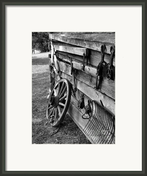 Cabin Wall Framed Print By Julie Dant