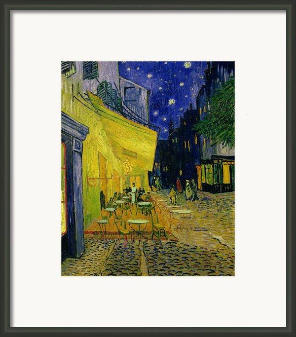 Cafe Terrace Arles Framed Print By Vincent Van Gogh