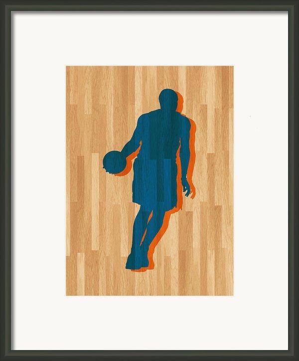 Carmelo Anthony New York Knicks Framed Print By Joe Hamilton