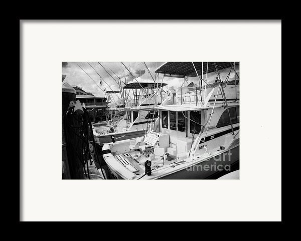 Charter Fishing Boats In The Old Seaport Of Key West Florida Usa Framed Print By Joe Fox