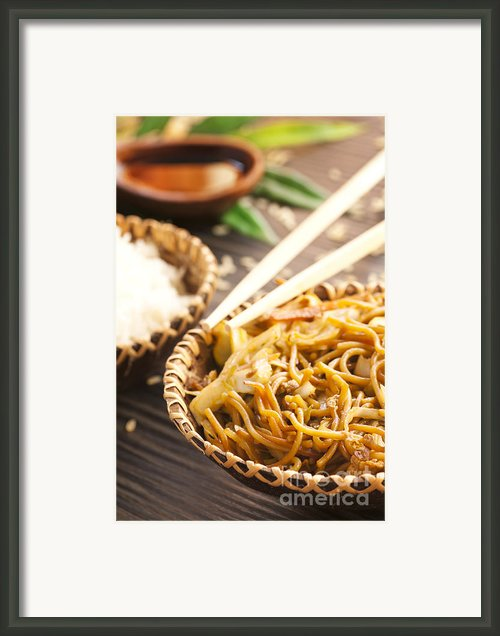 Chinese Food Framed Print By Mythja  Photography